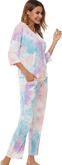 NEW Womens Ex Store Cotton Pyjama Set Ladies Dot PJs Set Long Sleeve Lounge Wear
