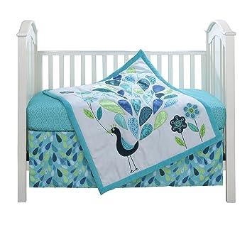 Amazon.com: Azul Pavo Real 3 piezas bebé Juego de ropa de ...