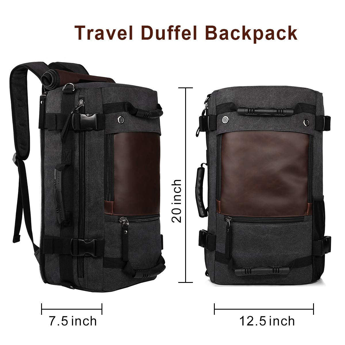 752f568124 Amazon.com: Ibagbar Canvas Backpack Travel Bag Hiking Bag Rucksack Duffel  Bag Laptop Backpack Computer Bag Camping Bag Sports Bag Weekend Bag  Briefcase Bag ...