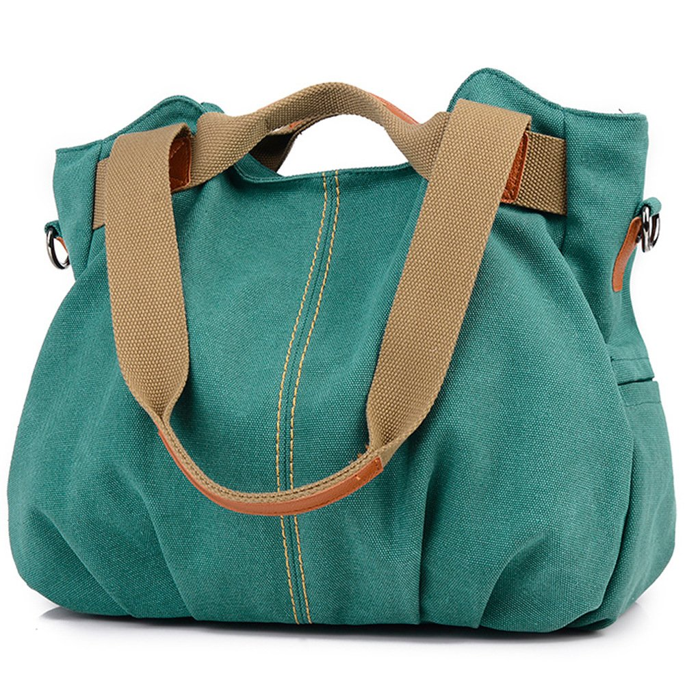 Z-joyee Womens Ladies Casual Vintage Hobo Canvas Daily Purse Top Handle Shoulder Tote Shopper Handbag YMY-7898-Blue