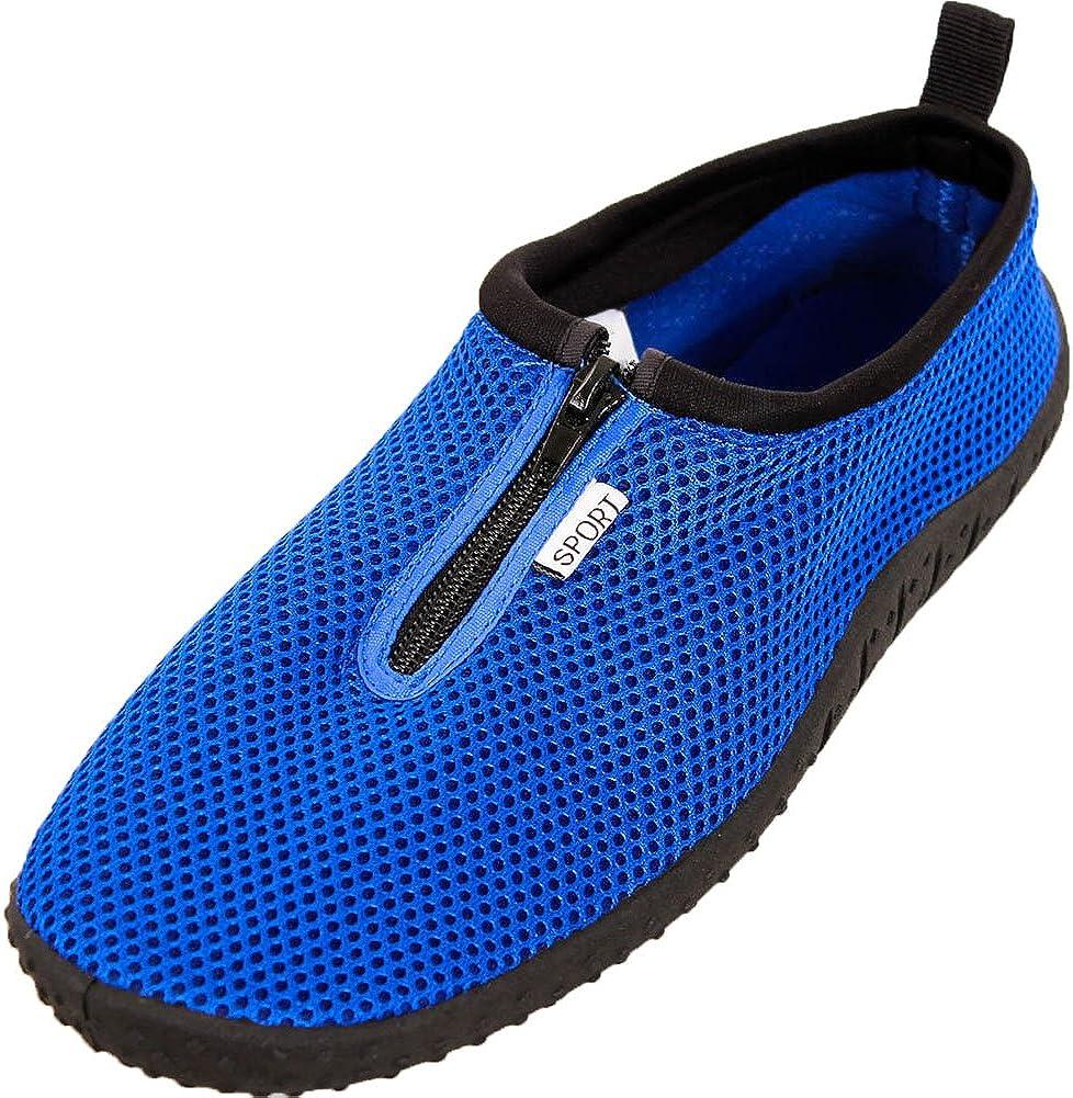 LEMON Mens Zip Up Aqua Socks Water Shoes