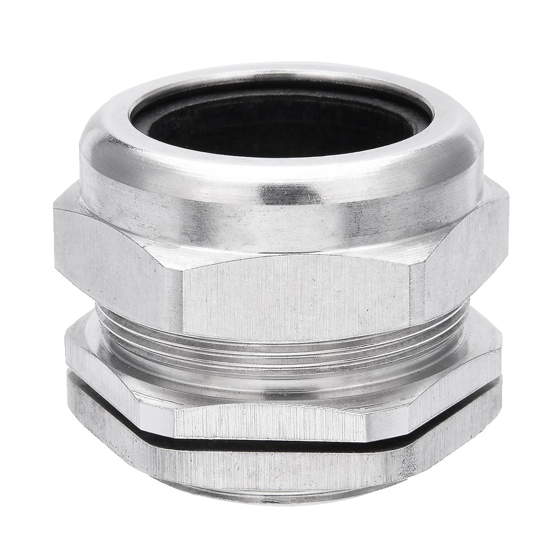 uxcell Cable Gland Waterproof G1-1/4 Stainless Steel Cable Glands Joints Adjustable Connector for 25-33mm Dia Cable