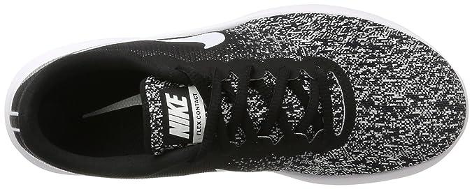 Amazon.com | Nike Mens Flex Contact Running Shoe Black/White 7.5 M US | Road Running