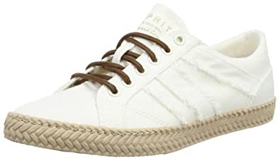 Esprit SILVANA LACE UP - Trainers - white 6OPwA4gIxd