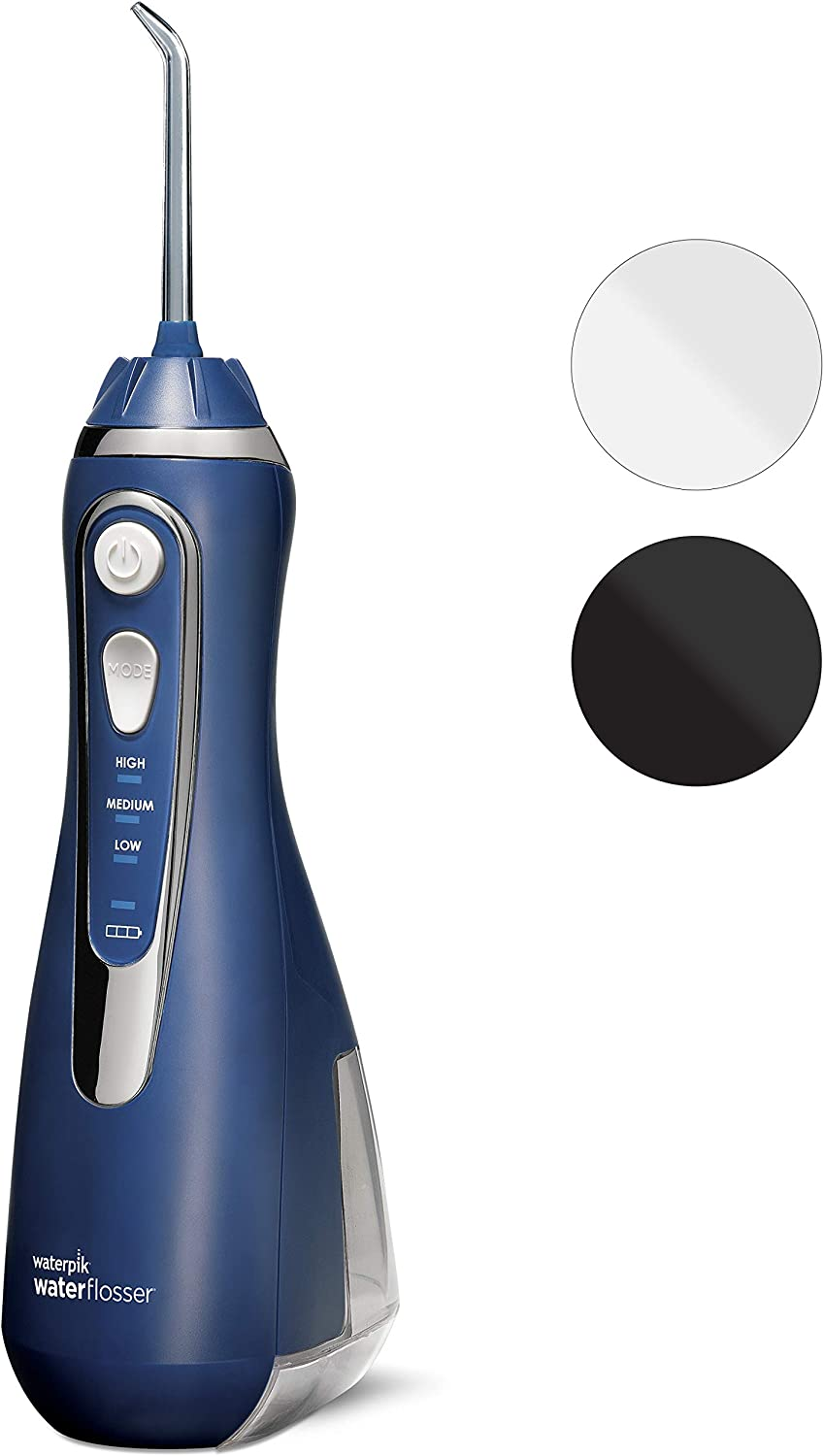 Waterpik WP-563EU Irrigador Bucal Recargable Irrigador Dental Portátil, Color Azul