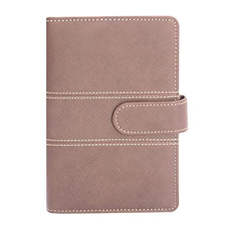 Labons A5 Filofax with Button 6 Round Ring Binder Planner Refills has Monthly Weekly Daily Schedule 2019 2020 2021 Calendar/Telephone & ...