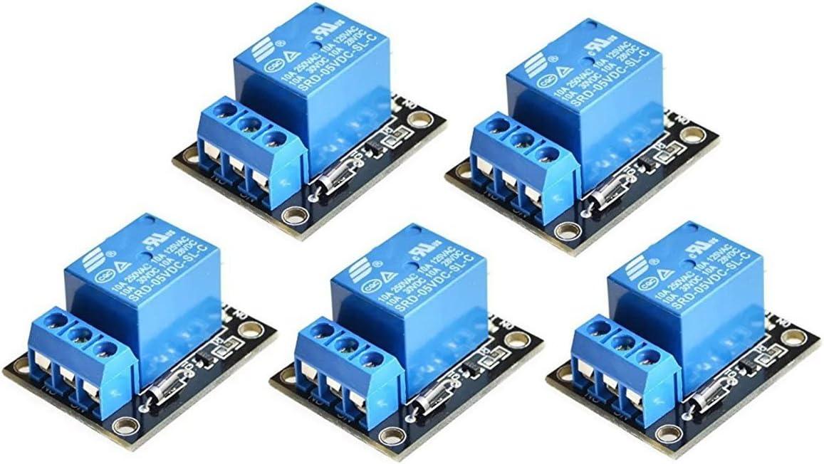 ICQUANZX 5PCS KY-019 5V A Módulo de relé de Canal Shield para PIC AVR DSP Arm para arduino relé