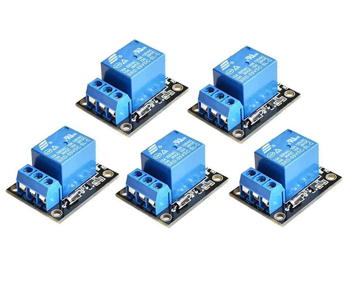 ARCELI 5PCS KY-019 5V One Channel Relay Module Board Shield For PIC AVR DSP ARM for arduino Relay 00075
