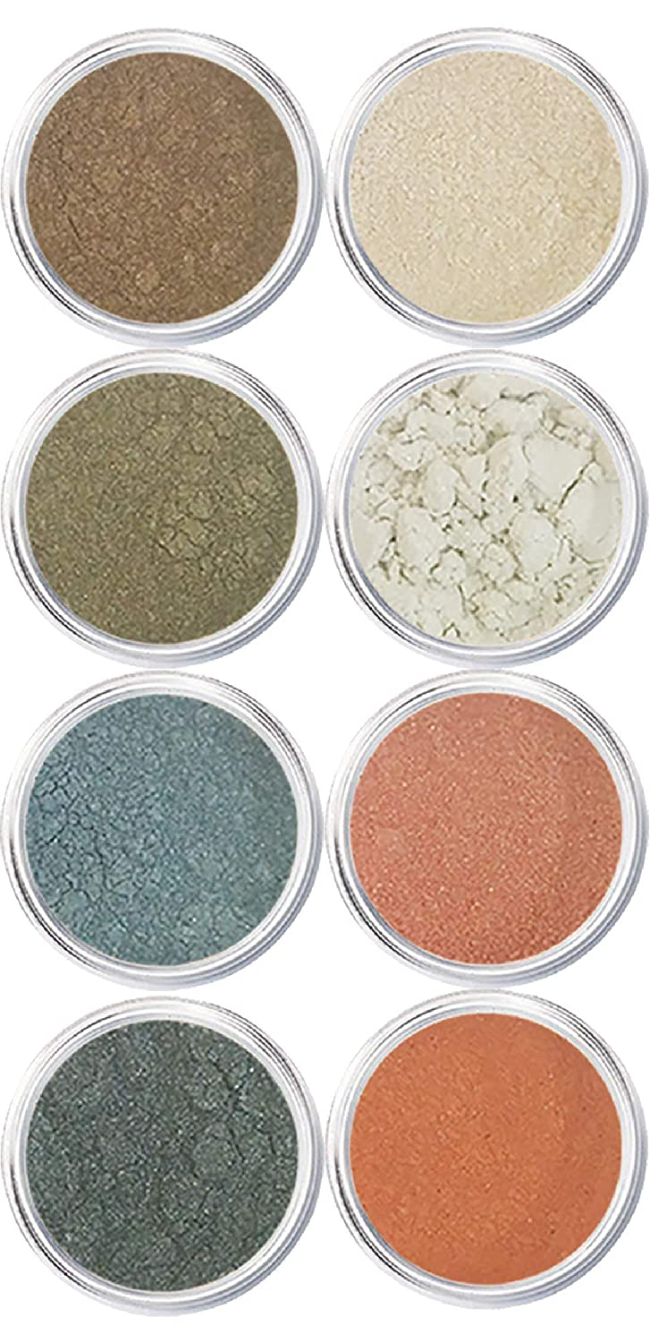 EyeShadow Palette - Mineral Makeup Eyeshadow Powder and Contouring Palette | Pure, Non-Diluted Shimmer Mineral Make Up in 8 Manhattan Hues and Shades