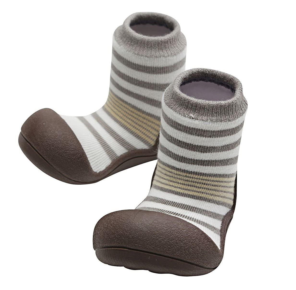 Attipas Baby Shoes Socks Rubber Sole First Walker Soft Cotton Ideal Baby Registry Gifts
