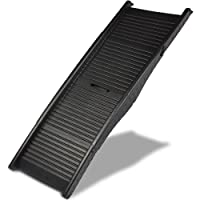 Paws & Pals Auto Dog Ramp Supports up to 150Lbs for Pets Wide Portable Tri-Fold Trunk Back Seat Ladder Step - 60 Inches