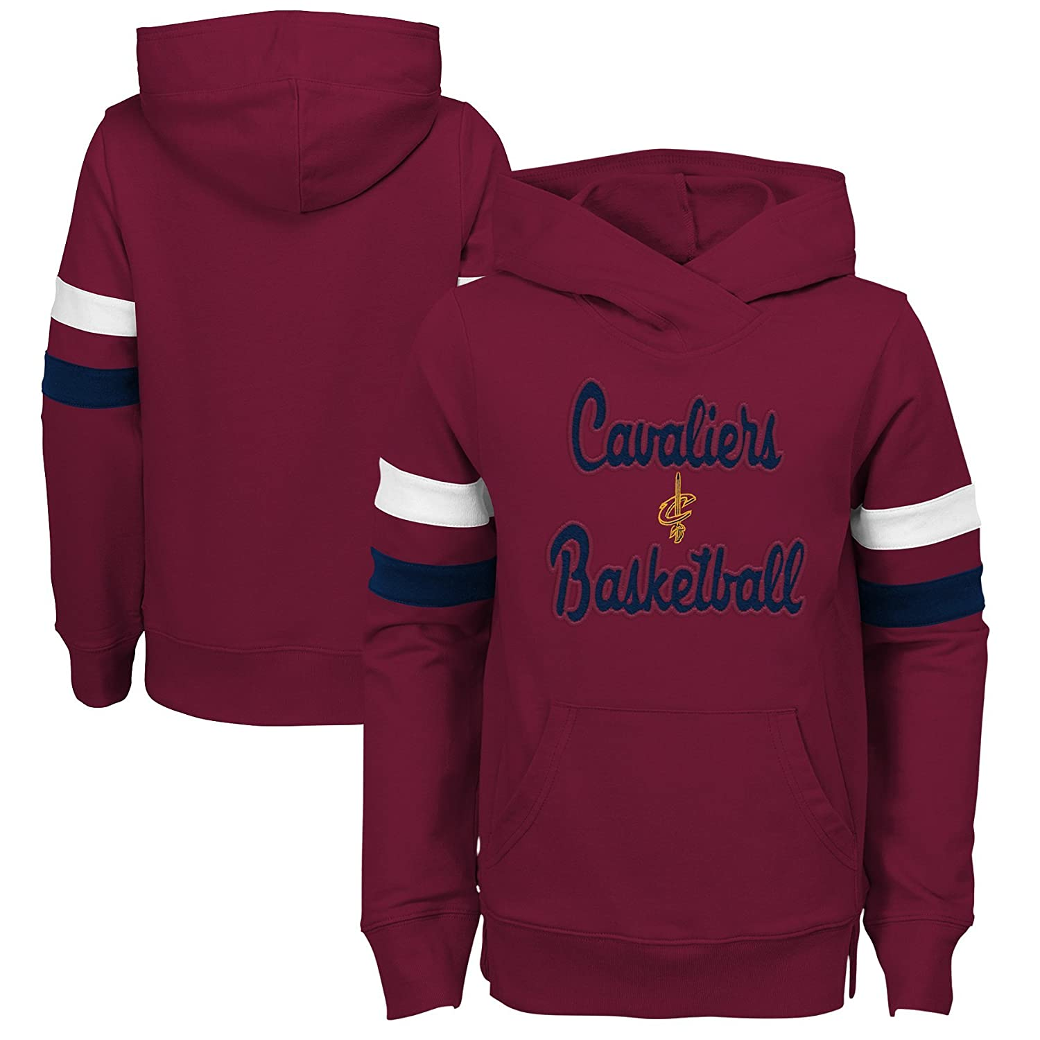 NBA by Outerstuff NBA Kids /& Youth Girls Cleveland Cavaliers Claim to Fame Overlay Hoodie 4 Kids Small Burgundy