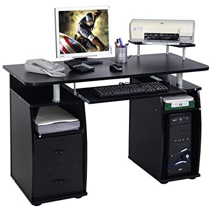 amazon com computer pc desk work station office home raised rh amazon com computer desk raised monitor platform