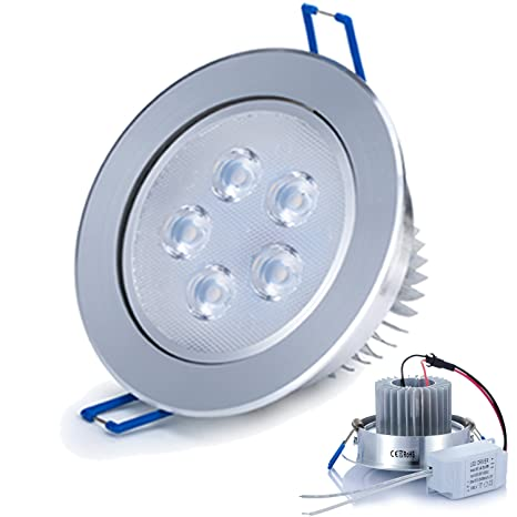 Liqoo 5W Focos Empotrable LED Incluye Transformador Luz de Techo Downlight Projector Blanco Frío 6000K 500LM
