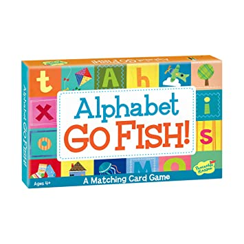 Amazon peaceable kingdom alphabet go fish letter matching peaceable kingdom alphabet go fish letter matching card game 52 cards with box stopboris Image collections