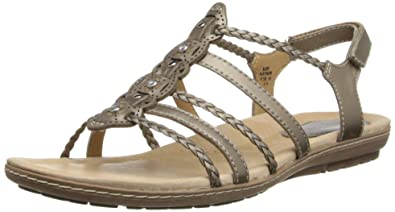 Earth Women's Bluff Dress Sandal,Platinum,11 M US