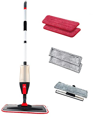 Amazon Floor Spray Mop Kit With 3 N 1 Function Mop Set With 5