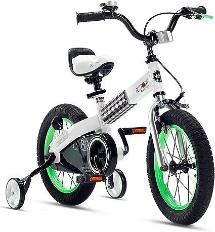 Green Bike for Kids BMX Boys Little Big Girls Training Wheels Bicycles Learning