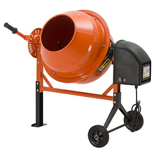 SUNCOO 1 2 HP 2.5 Cu Ft Electric Concrete Cement Mixer Mortar Mixing Stucco Seeds Portable Barrow Machine