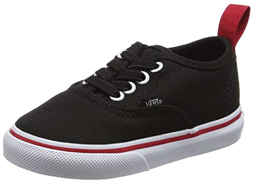 Image Unavailable. Vans Pop-Black-Racing Red Authentic Elastic Lace  Toddlers Shoe ... a4c862be1