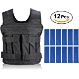 Weight Vests Adjustable Weighted Vest Running Gym Training Running Jackets Workout Exercise Loss Weight Jackets Sand Loading Cloth, Weights not Included