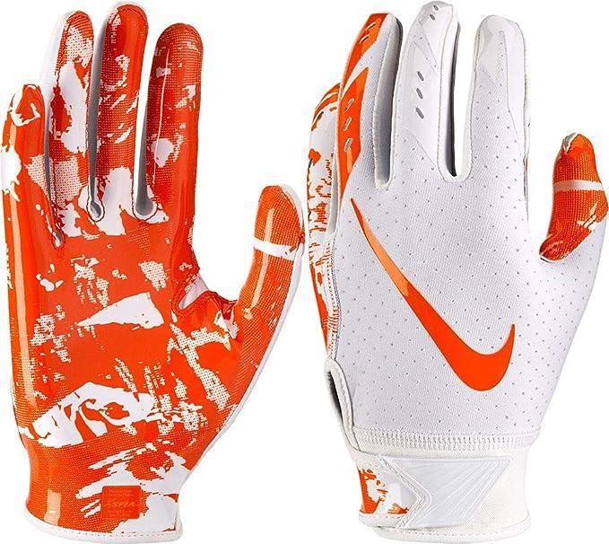 7324f6211964 Nike Youth Vapor Jet 5.0 Receiver Gloves 2018 (White/Orange, Small)