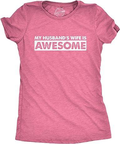 I Love My Awesome Husband T Shirt Anniversary Gift Idea Cupid Tee T-Shirt