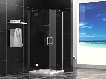 Cabina de ducha 90 x 90 x 190 cm sin plato de ducha 8 mm Cristal ...