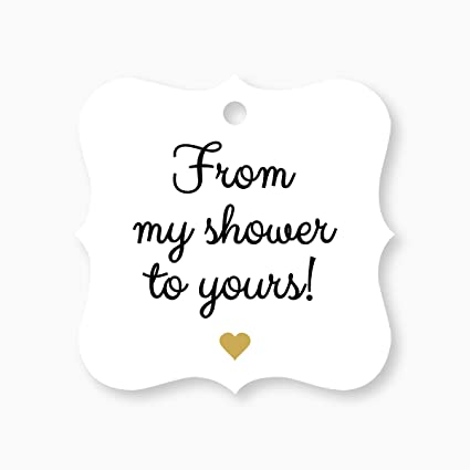 24 baby shower favor tags bridal shower favor tags golden heart from