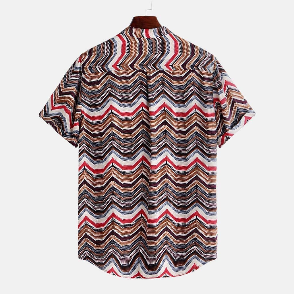 SOOTOP Men Tropical Hawaiian Aloha Shirt Top Blouse Button Down Summer Party Holiday Casual