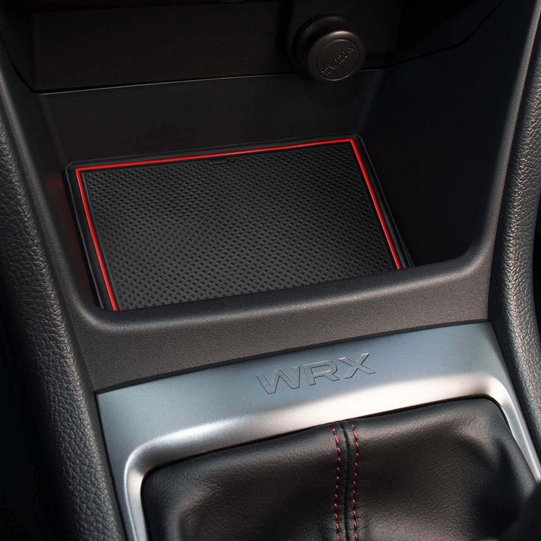 Red Door Console Liner Accessories for Subaru WRX 2015 2016 2017 2018 2019 2020-13 pcs Set Sporthfish Non-Slip Anti-dust Custom Fit Cup