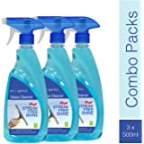 ECOGENICS Glass and Surface Cleaner with Shine Boosters Spray (Clear) - Pack of 3 (500 ml x 3)