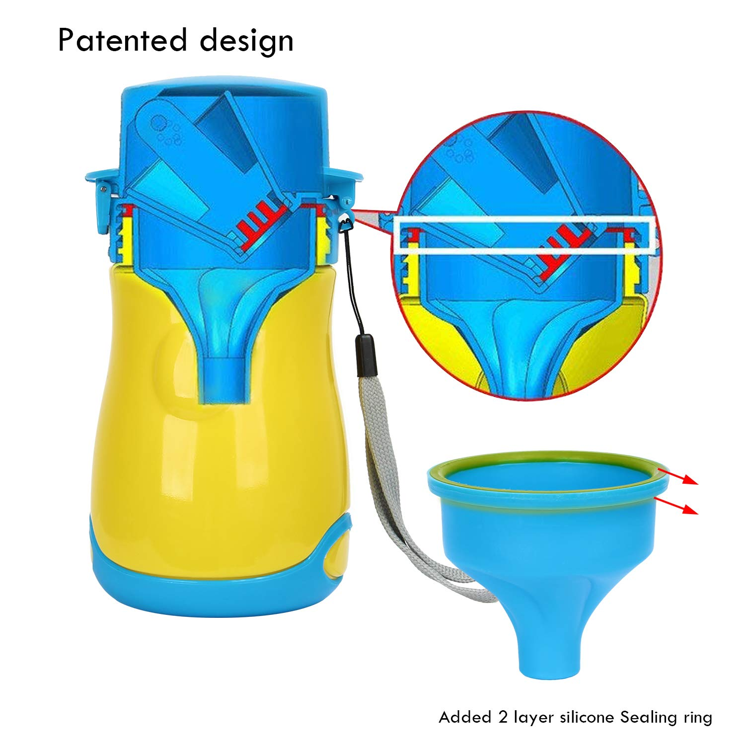 Girl Discoball Portable Baby Child Potty Hygienic Leak Proof Toddler Potty Urinal Emergency Toilet for Kids Pee Training Car Camping Travel