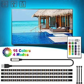 2m USB LED Stripe Lichterkette Leucht Streifen Deko TV PC Notebook Licht blau