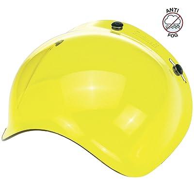Biltwell unisex-adult (BS-YEL-AF-SD) Bubble Shield-Yellow-Anti-Fog, One Size: Automotive