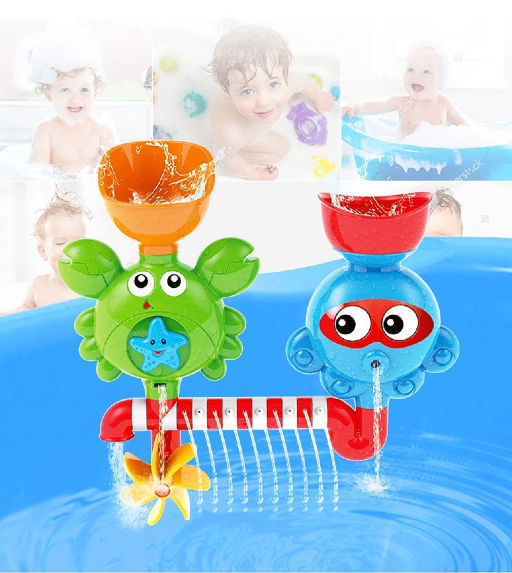 Baby Bath Toys - Waterfall Water Station with Two Stackable Cups - Thinking Ability and Creativity bathtub toys Vjoy® ChenXi Global
