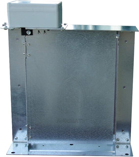 AGRIMATIC Puerta de gallinero automática. Modelo 180º.: Amazon.es: Jardín