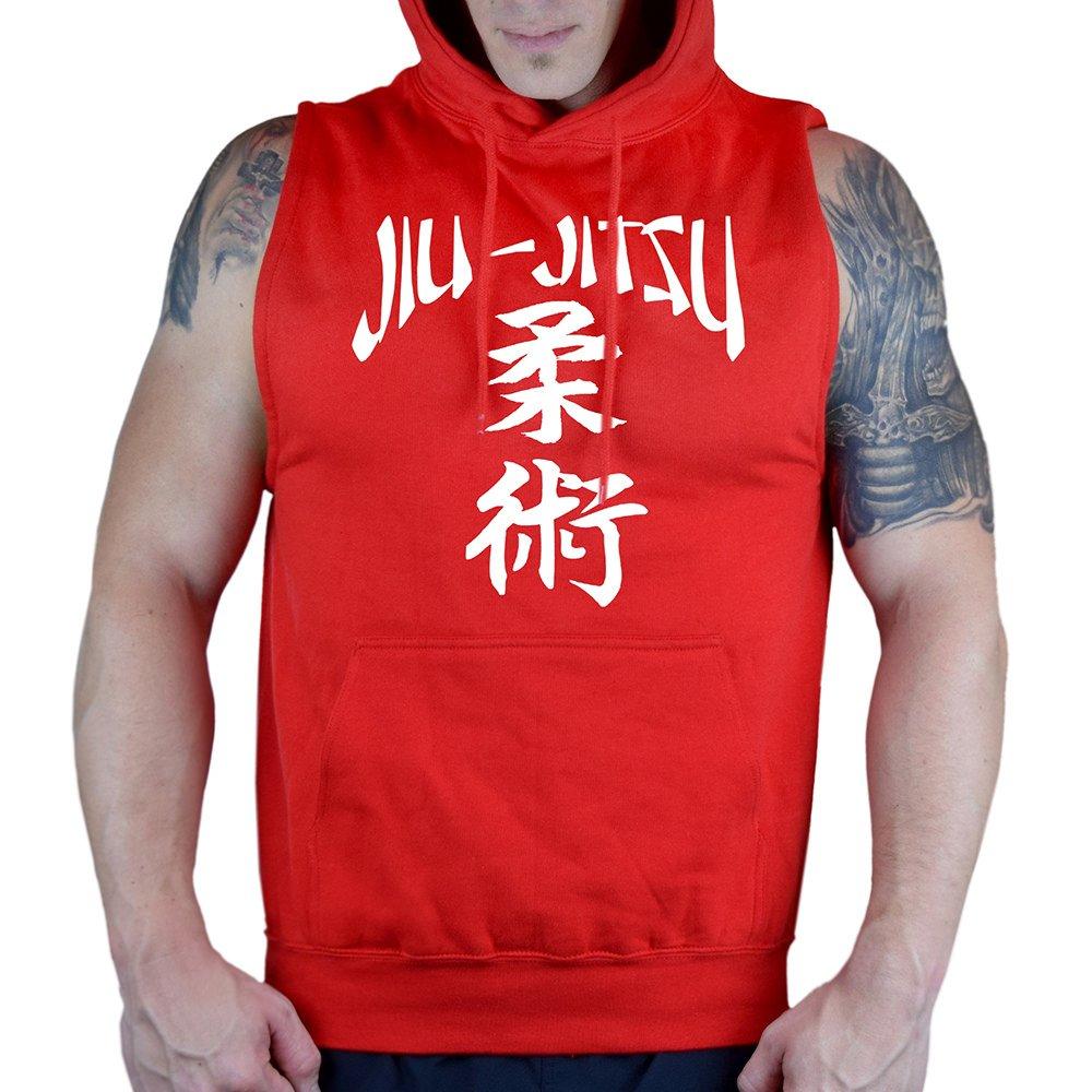 Mens Jiu Jitsu Chinese Sleeveless Vest Hoodie