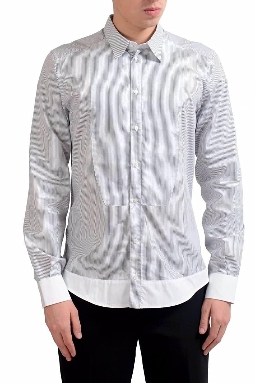 Dolce & Gabbana メンズ ゴールドストライプドレスシャツのサイズ B07B3XD8LZ  マルチカラー US 15.5 IT 39
