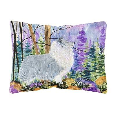 Caroline's Treasures SS8636PW1216 Sheltie Decorative Canvas Fabric Pillow, 12H x16W, Multicolor : Garden & Outdoor
