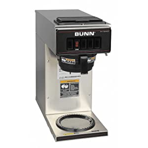BUNN 13300.001 VP17-ISS pourover coffee brewer with one warmer