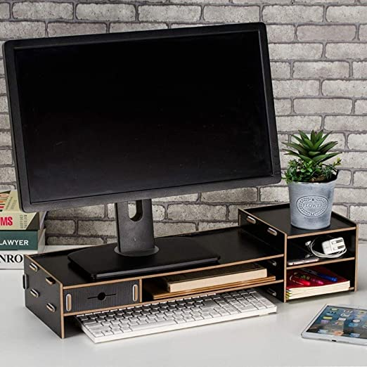Sgxpjj Desktop Organizer Drawers Pantalla Soporte para Monitor con ...