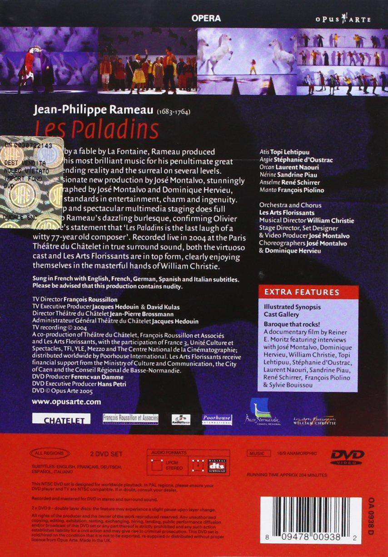 Amazon.com: Rameau - Les Paladins / Piau, Naouri, Lehtipuu, d'Oustrac, Piolino, Schirrer, Gonzalez-Toroi, Christie, Paris Opera: William Christie, ...