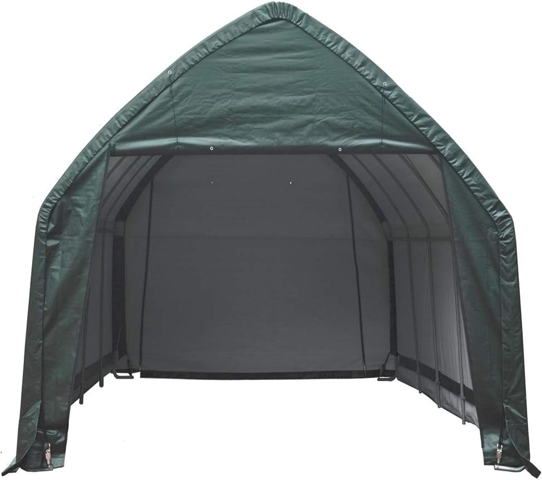 BxT ShelterLogic Foliengarage Garage in-a-Box 23,8m/² gr/ün //// 390x610 cm //// Foliengarage Garage und Folienger/ätehaus