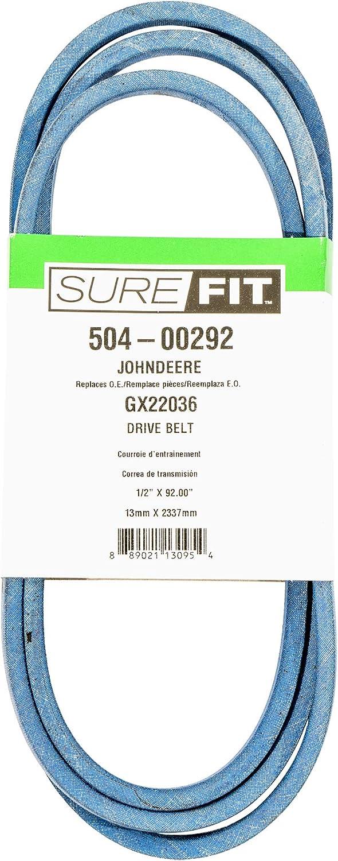 """SureFit Drive Belt Replacement for John Deere GX22036 102 D100 L100 L1742 LA100 LA105 Lawn Mowers 1/2"""" X 92"""""""