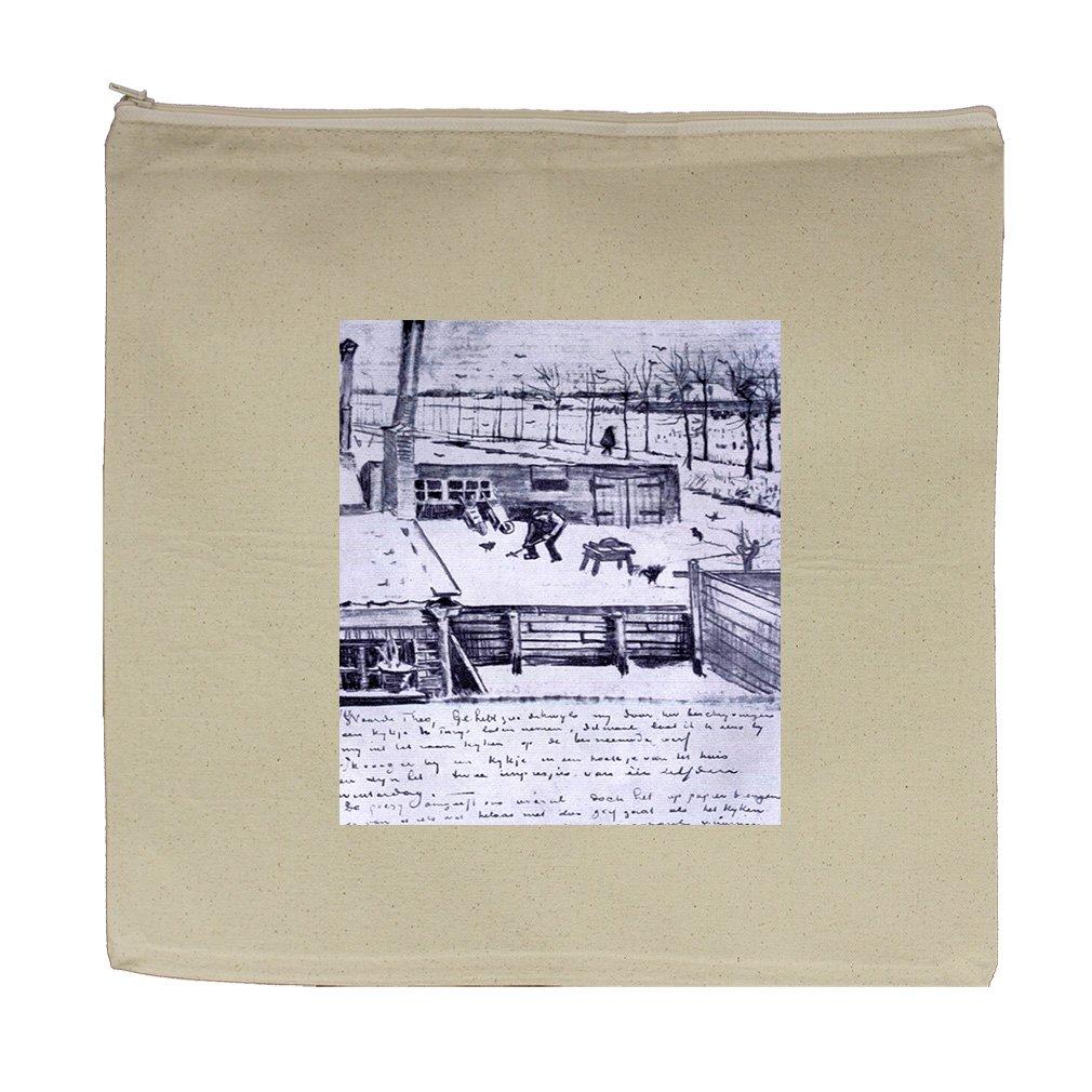 View From Window Of Studio (Van Gogh) Canvas Zipper Tote Bag Makeup Bag