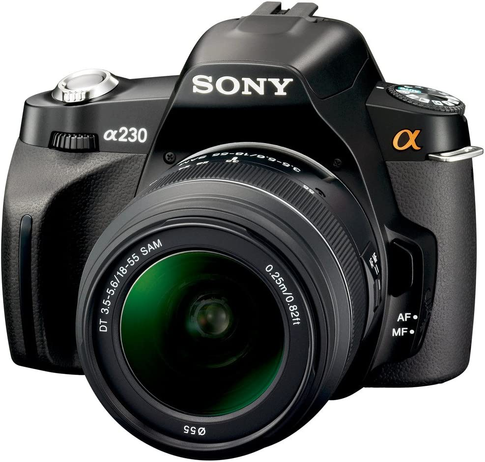 Sony DSLR-A230 + DT 18-55 mm - Cámara Digital (10,2 MP, SLR Camera ...