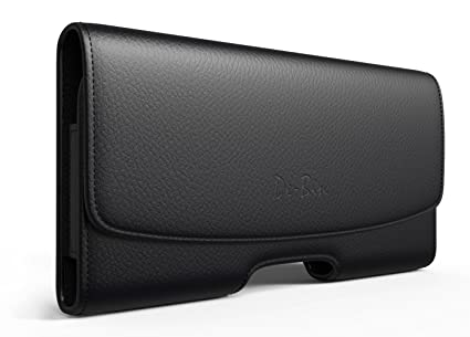 the latest 97e22 e3eaa De-Bin iPhone Xs Holster Case, iPhone X Belt Case, Premium Leather Pouch  Holster Case with Belt Clip Cell Phone Belt Holder for Apple iPhone  X/iPhone ...
