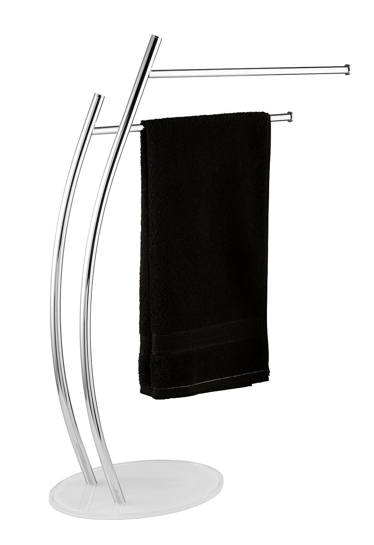 Stahl Chrom Kleiderst/änder 54 x 82.5 x 23 cm WENKO 20064100 Handtuchst/änder Ascea mit 2 Armen