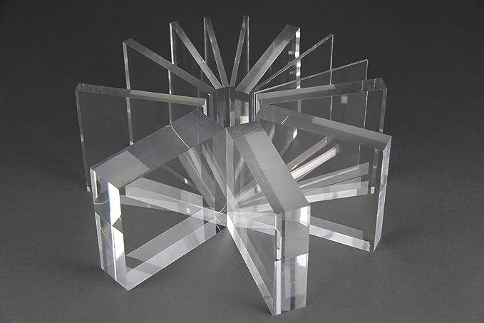 Acrylglas Zuschnitt Plexiglas Zuschnitt 10-25mm Platte//Scheibe klar//transparent 12 mm, 800 x 400 mm